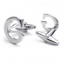 """""""G"""" raidės formos plieninės vyriškos sąsagos"""