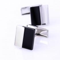 Kvadratinės vyriškos sąsagos su sidabro spalvos detale