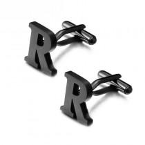 """""""R"""" raidės formos juodos marškinių sąsagos vyrui"""